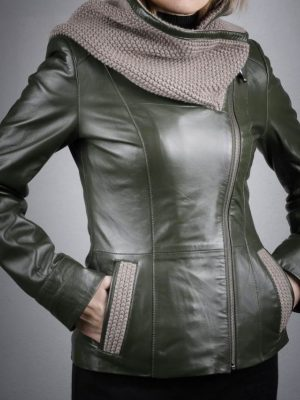 Női bőrkabát Berceste – K200204