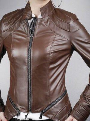 Női bőrkabát Bediz – K200259